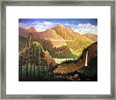 Rocky Mountain Sunrise Framed Print by Donn Kay