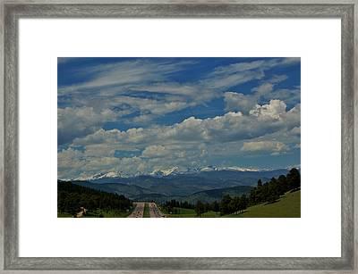 Colorado Rocky Mountain High Framed Print