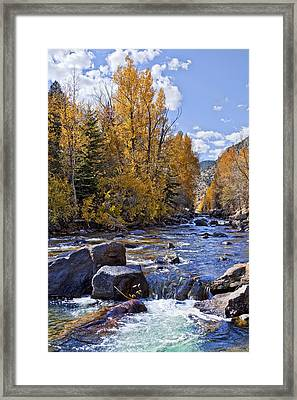 Rocky Mountain Water Framed Print