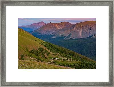 Rocky Mountain Wilderness Framed Print by Darren  White