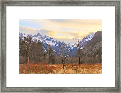 Rocky Mountain Wilderness Sunset View Framed Print by James BO Insogna