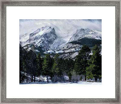 Rocky Mountain Winter Framed Print
