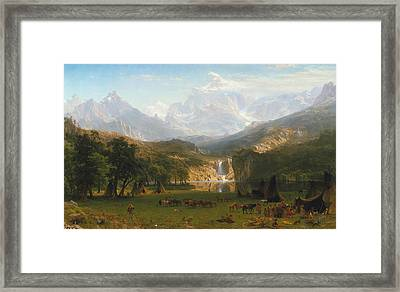 Rocky Mountains Framed Print by Albert Bierstadt