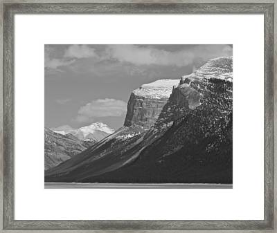 Framed Print featuring the photograph Rocky Mountains - B/w by Josef Pittner