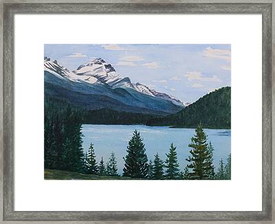 Rocky Mountains Framed Print by Debbie Homewood