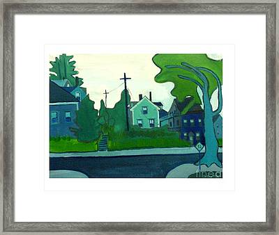 Rocky Neck Art Colony East Gloucester Ma Framed Print by Debra Bretton Robinson