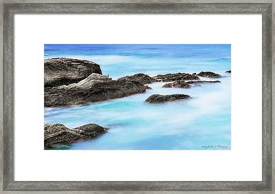 Framed Print featuring the photograph Rocky Ocean by John A Rodriguez