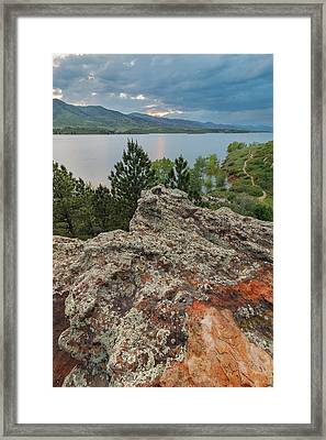 Rocky Overlook At Horsetooth Reservoir Framed Print by Matt Thalman