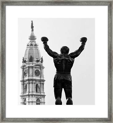 Rocky - Philly's Champ Framed Print by Bill Cannon