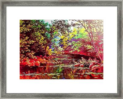 Rocky Rainbow River Framed Print