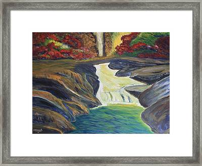 Rocky River Falls Framed Print by Edward Walsh