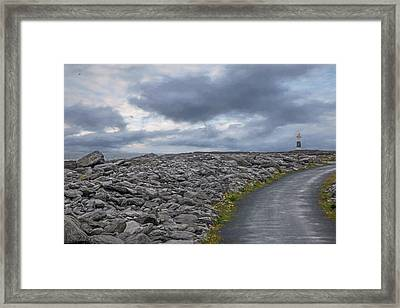 Rocky Road To The Lighthouse Framed Print