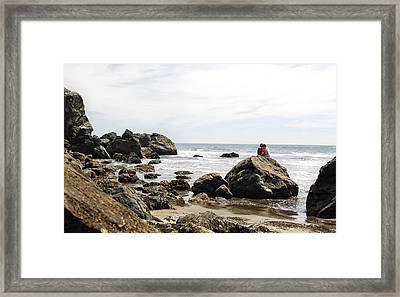 Rocky Romance Framed Print by Donna Blackhall