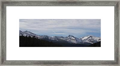 Rocky Sawtooth Framed Print by Dylan Punke