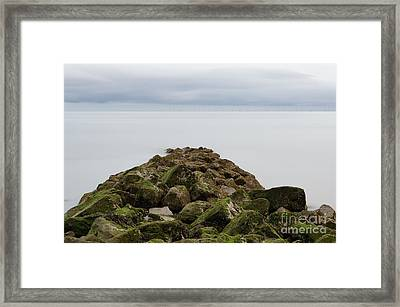 Rocky Sea Defence Framed Print