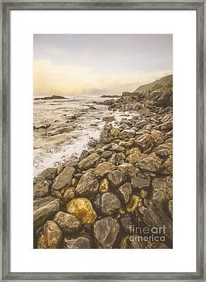 Rocky Seashore Scene  Framed Print by Jorgo Photography - Wall Art Gallery