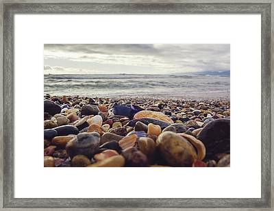 Framed Print featuring the photograph Rocky Shore by April Reppucci