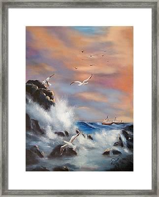 Rocky Shore Framed Print by Joni McPherson