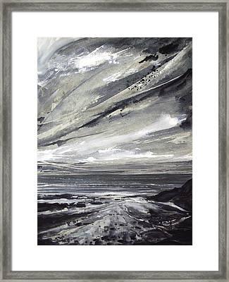 Rocky Shore Framed Print by Keran Sunaski Gilmore