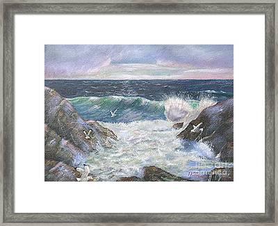 Rocky Shore Framed Print by Nicholas Minniti