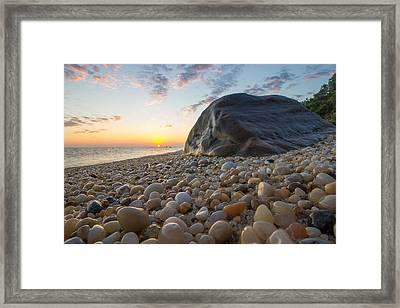 Rocky Shore  Framed Print by Roderick Breem