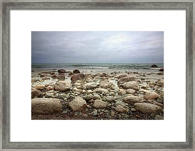 Framed Print featuring the photograph Rocky Shore by Stefan Nielsen