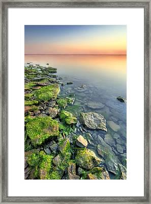 Rocky Shoreline Framed Print by Ryan Heffron