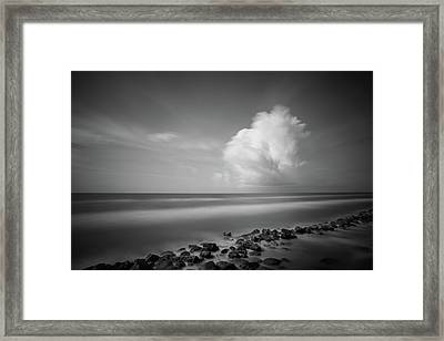 Framed Print featuring the photograph Rocky Shoreline by Todd Aaron