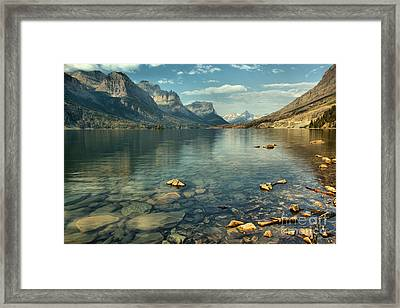 Rocky Shores Along St. Mary Lake Framed Print