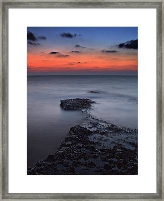 Rocky Shores Of Agios Georgios Framed Print