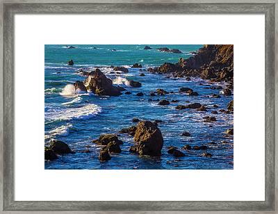 Rocky Sonoma Coast Framed Print by Garry Gay