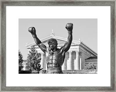 Rocky Statue - Philadelphia Framed Print by Brendan Reals