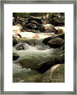 Framed Print featuring the mixed media Rocky Stream 4 by Desiree Paquette