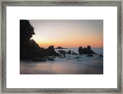 Rocky Sunrise Framed Print by Ralph Vazquez