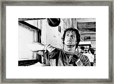 Rocky Sylvester Stallone Collection Framed Print by Marvin Blaine