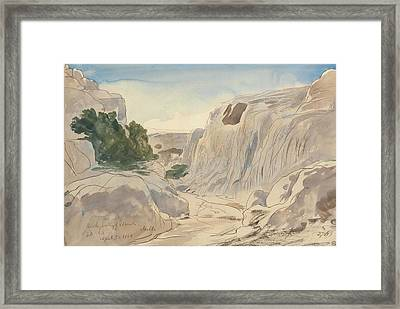 Rocky Valley Of Mosta, Malta, Two-fifteen P.m. Framed Print