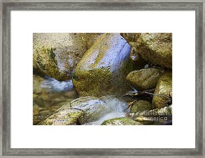Rocky Water Closeup 2 Framed Print