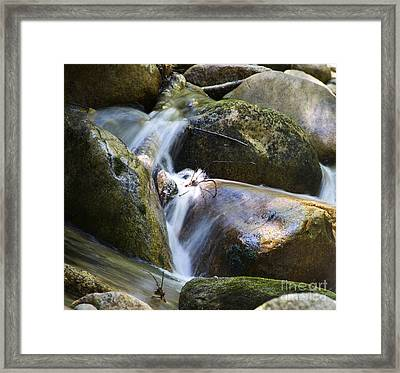 Rocky Water Closeup Framed Print
