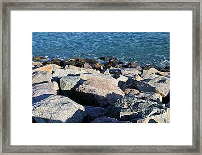 Rocky Water Framed Print by Extrospection Art