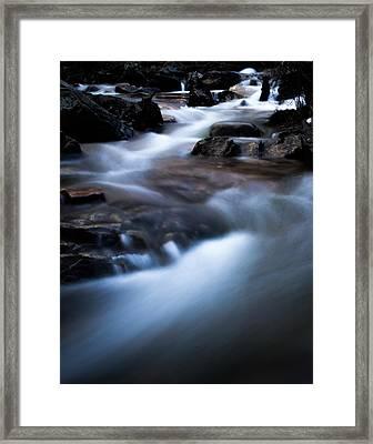 Rocky Winter Stream Framed Print by Parker Cunningham
