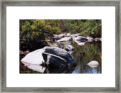 Rocky World Framed Print by Donna Blackhall