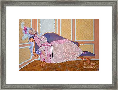 Rococo Coquette -- Mme. Pompadour, #2 In Famous Flirts Series Framed Print