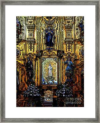 Splendor, Cathedral, Mexico City Framed Print by Mexicolors Art Photography