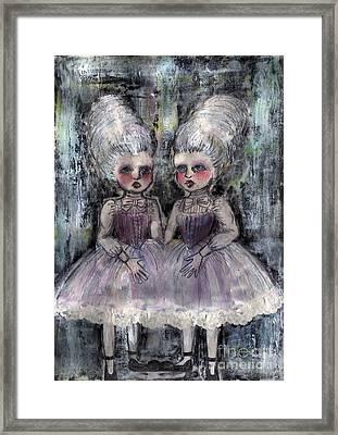 Rococo Twins Framed Print by Akiko Okabe
