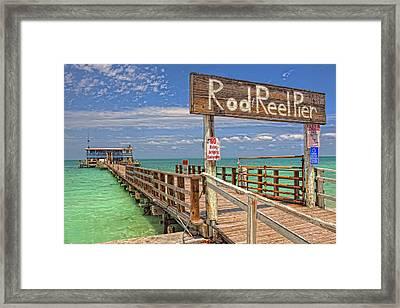 Rod And Reel Pier Anna Maria Island Framed Print by Jim Dohms