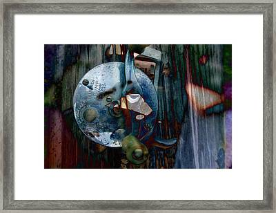Rod And Reel Framed Print by Robert Glover