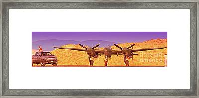 Rod Lewis' Lockheed Lightning  Glacier Girl       Framed Print by Gus McCrea