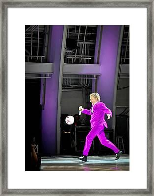 Rod Stewart Soccer Ball Framed Print by April Reppucci