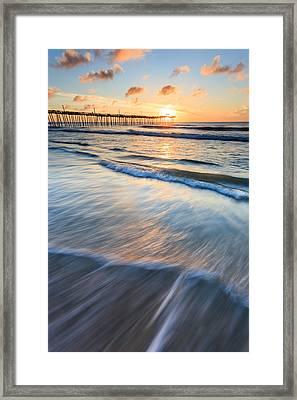 Rodanthe Pier Sunrise Framed Print by Bryan Bzdula