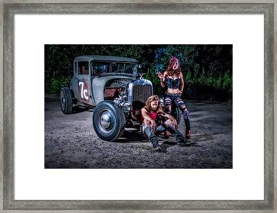 Rodders #2 Framed Print by Jerry Golab